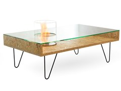 Planika, FIRE COFFEE TABLE Tavolino con caminetto integrato
