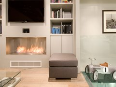 Inserto per camini a bioetanolo in acciaio inox e vetro FIREBOX 1200SS - Premium Single Sided Fireplaces