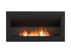 Caminetto incassato in acciaio a bioetanolo con vetro panoramicoFIREBOX 1400CV - ECOSMART FIRE