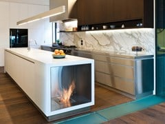 Inserto per camini a bioetanolo in acciaio inox e vetro FIREBOX 650SS - Premium Single Sided Fireplaces