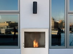Inserto per camini a bioetanolo in acciaio inox e vetro FIREBOX 900SS - Premium Single Sided Fireplaces