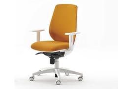 Sedia ufficio imbottita in tessuto a 5 razzeFIRST | Sedia ufficio con ruote - ESTEL GROUP