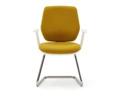 Sedia ufficio a sbalzo imbottita in tessuto con braccioliFIRST | Sedia ufficio a sbalzo - ESTEL GROUP