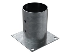 Portapilastro tondo in acciaio zincato a caldoFISCHER XFSC - FISCHER ITALIA S.R.L.
