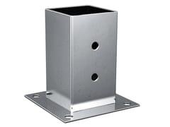 Portapilastro quadro in acciaio zincato a caldoFISCHER XFSS - FISCHER ITALIA S.R.L.