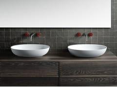 Lavabo da appoggio ovale in Cristalplant® designFISHER ISLAND | Lavabo - BOFFI