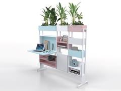 Divisorio ufficio freestanding in metallo su ruoteFIX VELA | Divisorio ufficio - ESTEL GROUP