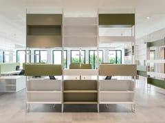 Libreria ufficio / Divisorio ufficio in metalloFIX VELA | Libreria ufficio - ESTEL GROUP