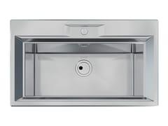 Lavello a una vasca da incasso in acciaio inoxFL 1V 72X32 B8 INOX - FOSTER
