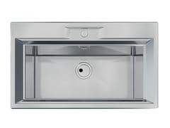 Lavello a una vasca semi filo top in acciaio inoxFL 1V 72x32 S/FT INOX - FOSTER