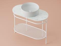 Consolle lavabo con porta asciugamaniFLAIR 4.0 - ARTCERAM