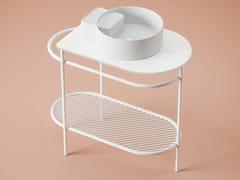 Mobile lavabo da terra in metallo e marmoFLAIR | Mobile lavabo - ARTCERAM