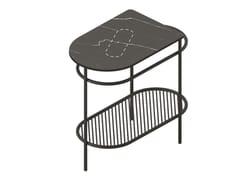Mobile lavabo da terra in metallo e marmoFLAIR | Mobile lavabo in marmo - ARTCERAM
