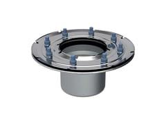 Flangia in acciaio inoxFLANGIA CON GUARNIZIONE PER SCARICO PAVIMENTO 13x13 - GEBERIT ITALIA