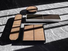 Tavolino da caffè in legno con vano contenitoreFLAP - LIVING DIVANI
