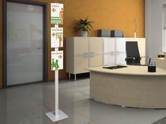 Espositore da terra in alluminioFLAT FLOOR A4 - STUDIO T
