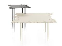 Tavolino quadrato in metallo verniciatoFLAT LACE - ATL GROUP