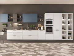 Cucina componibile lineare con maniglieFLAVOUR BRIDGE 4 - CUCINE LUBE
