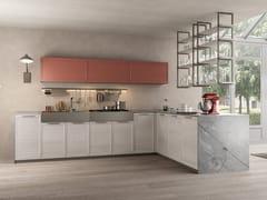 Cucina componibile in legno con penisolaFLAVOUR BRIDGE 6 - CUCINE LUBE