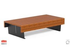 Panchina in okumè senza schienaleFLEA | Panchina senza schienale - DIMCAR
