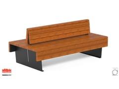 Panchina in okumè con schienaleFLEA | Panchina con schienale - DIMCAR