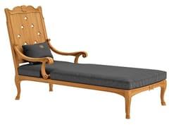 Chaise longue in teak FLEUR DE LYS | Chaise longue - Fleur de Lys