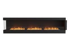 Inserto per camini a bioetanolo in acciaio con vetro panoramicoFLEX 122LC - ECOSMART FIRE