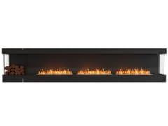 Inserto per camini a bioetanolo in acciaio con vetro panoramicoFLEX 140BY BXL - ECOSMART FIRE