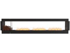 Inserto per camini a bioetanolo a doppia facciata in acciaio con vetro panoramicoFLEX 140DB BX1 - ECOSMART FIRE