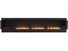 Inserto per camini a bioetanolo in acciaio con vetro panoramicoFLEX 140SS BXL - ECOSMART FIRE