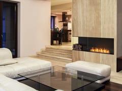 Inserto per camini a bioetanolo in acciaio con vetro panoramico FLEX 68LC BXL - Flex Left Corner Fireplaces