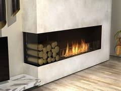 Inserto per camini a bioetanolo in acciaio con vetro panoramicoFLEX 68LC BXL - ECOSMART FIRE