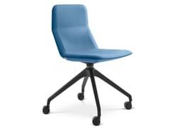 Sedia ufficio in tessuto con ruote su trespoloFLEXI CH L - F95 - LD SEATING