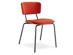 Sedia in tessuto con schienale apertoFLEXI CHAIR 125 - LD SEATING