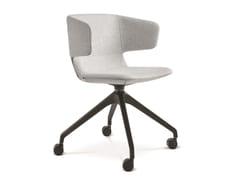 Sedia ufficio girevole in tessuto con ruoteFLEXI P-F95 - LD SEATING