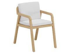Sedia in legno con braccioliFLEXX | Sedia con braccioli - JARDINICO