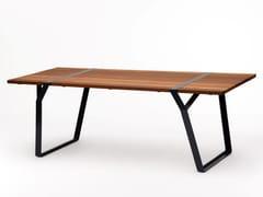 Tavolo rettangolare in acciaio e legnoFLINT | Tavolo - ROSS GARDAM
