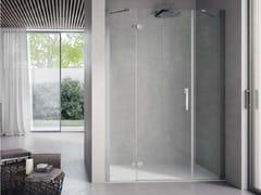 Box doccia con porta a battente e fisso in linea FLIPPER FLFPF - Flipper