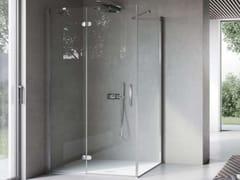 Box doccia in nicchia con porta a battente e lato fisso FLIPPER FLPO+FLFI - Flipper