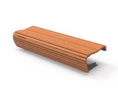 Panchina modulare in legno senza schienale FLOW | Panchina senza schienale - Flow