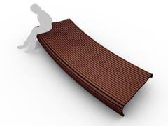 Panchina curva modulare senza schienaleFLOW   Panchina curva - CITY DESIGN