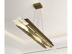 Lampada a sospensione a LED in acciaio e vetroFLOW | Lampada a sospensione - PATRIZIA VOLPATO