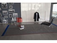 Tappeto rettangolare in fibra sintetica in stile moderno a motivi geometrici su misuraFLOW | Tappeto - BESANA MOQUETTE