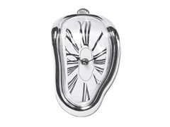 Orologio da tavolo in ABS FLOW SILVER -