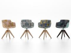 Sedia in policarbonato con braccioli FLOW SLIM COLOR | Sedia su trespolo - Flow