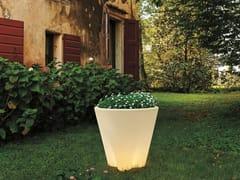 Vaso da giardino / lampada da terra per esterno in polietileneFLOWER_FL - LINEA LIGHT GROUP