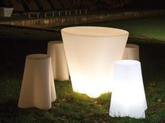 Lampada da terra per esterno in polietilene con sistema RGBFLOWER_FL SEAT - LINEA LIGHT GROUP