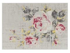 Tappeto a fiori in lana FLOWERS NATURAL | Tappeto - Canevas