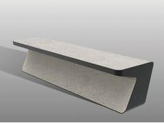 Panchina in pietra ricostruita senza schienaleFLUENS B - MANUFATTI VISCIO