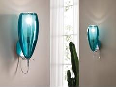 Applique in vetro borosilicato metallizzatoFLUTE | Applique - CANGINI & TUCCI